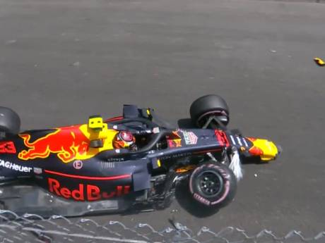 Verstappen start na crash achteraan in Monaco