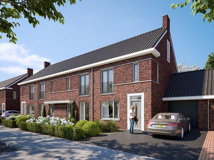 Een van de ontwerpen voor de bouw van fase 7 in Jacobskamp.