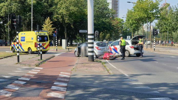 Het ongeluk op de kruising nabij het centrum in Enschede