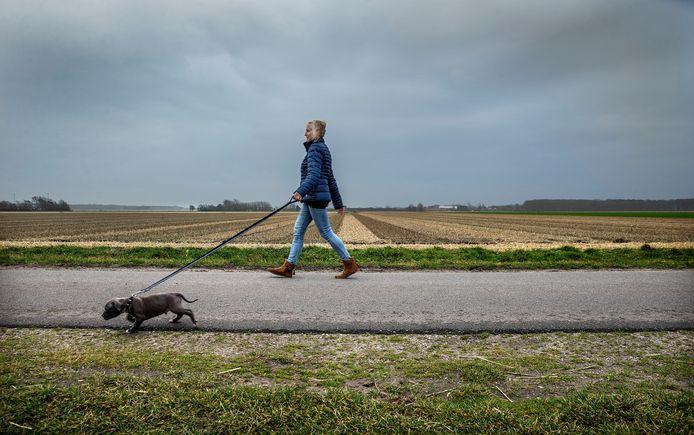 Omwonende Willy Groen op de Rinnegommerlaan in Egmond aan den Hoef, waar de hardloopster werd neergestoken.
