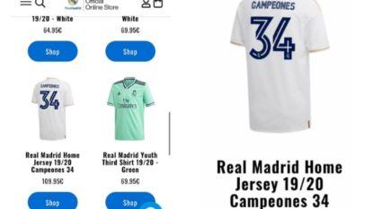 Oeps: Real Madrid zet kampioenenshirts per ongeluk te koop op officiële website