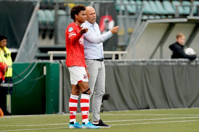 Calvin Stengs en Arne Slot
