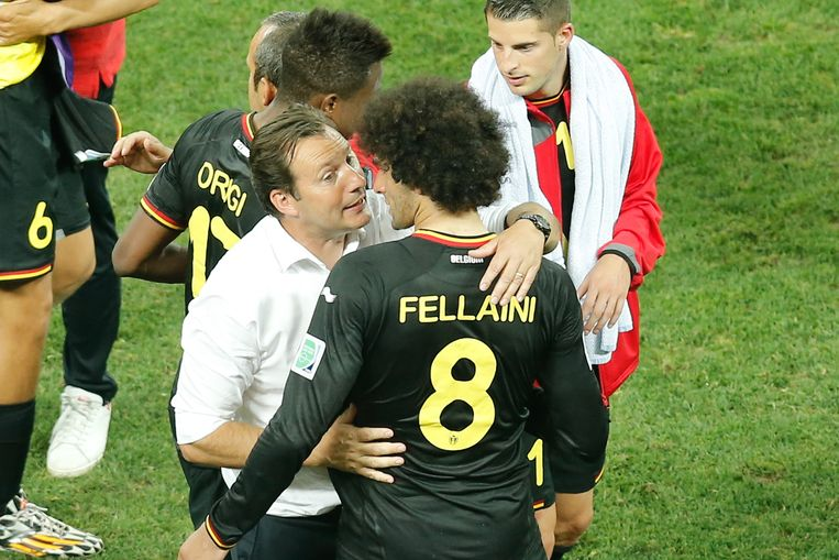 België haalde de maximale 9 punten uit 3 wedstrijden, maar het spel overtuigde nog niet. Beeld belga