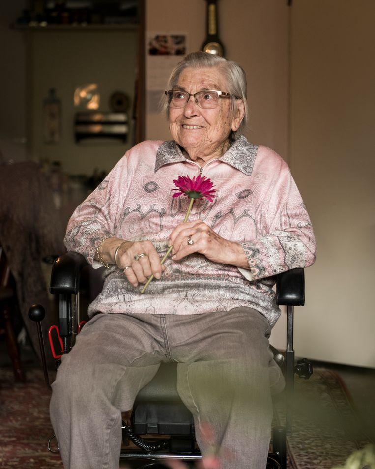 Lammie Drenth (93). Beeld Eva Faché