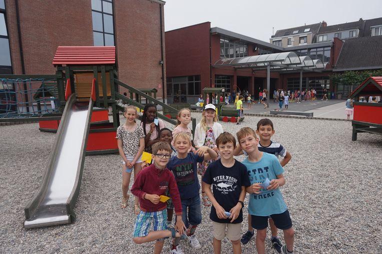 Voor de 500 leerlingen van het Sint-Barbaracollege werd een spelenmarkt georganiseerd.