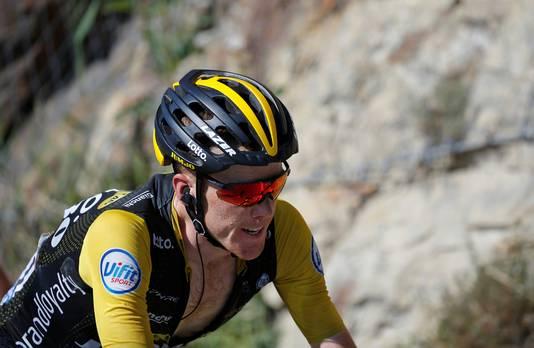 Steven Kruijswijk tijdens zijn heroïsche rit op Alpe d'Huez.