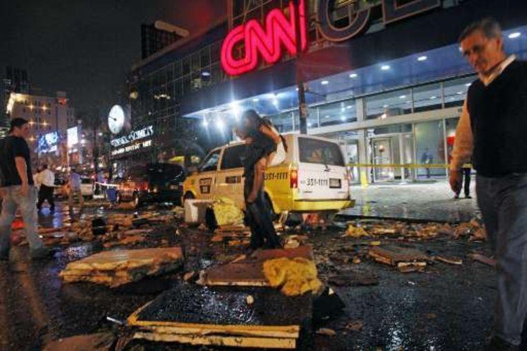 Ook het hoofdkantoor van CNN deelde in de klappen