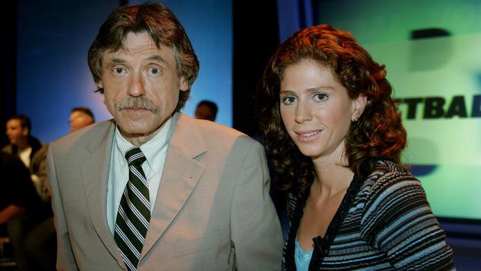Johan Derksen en Barbara Barend in 2005 bij Voetbal Insite.