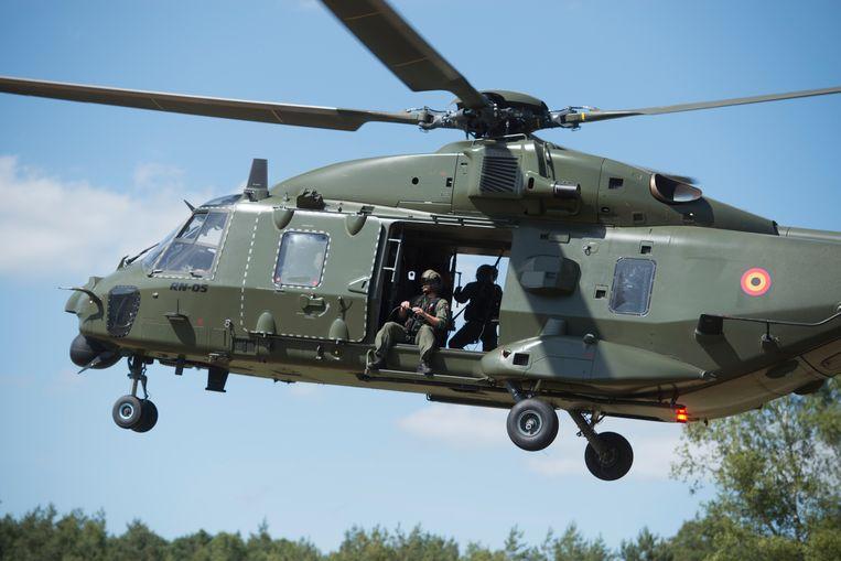 De NH 90 helikopter.