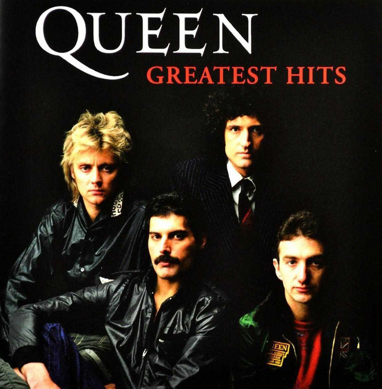 De hoes van het Queen-album uit 1981. Er zouden daarna nog verschillende andere Greatest Hits-albums volgen, met andere hoezen. Beeld EMI