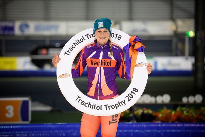 Eindwinnares bij de vrouwen: Irene Schouten. Dit jaar ontbreekt de Andijkse.