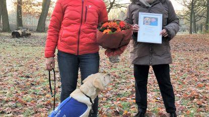 Pleeghond Ranger en vrijwilligster Nadine Leemans in de bloemetjes gezet