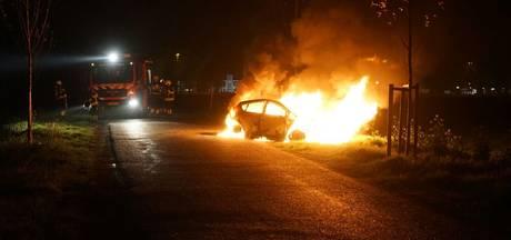 Auto uitgebrand in Ewijk