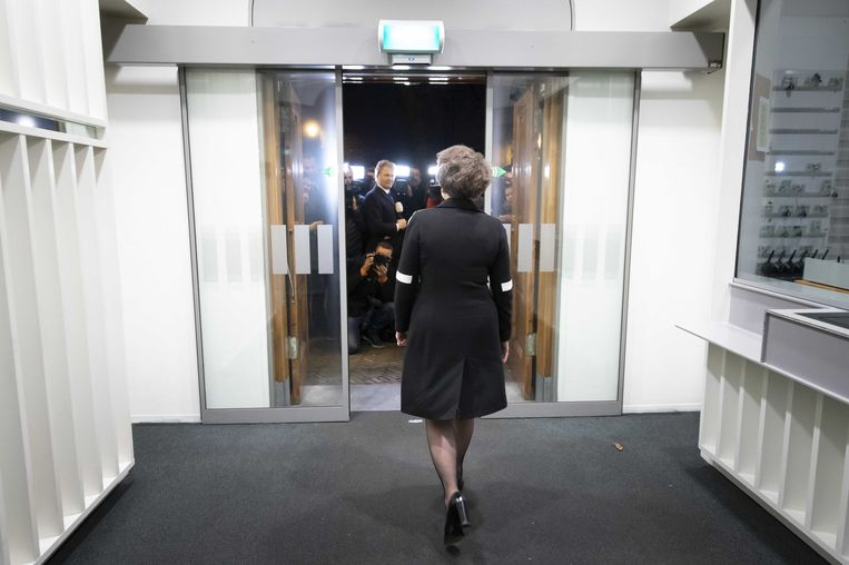 Alexandra van Huffelen na haar ontmoeting met premier Mark Rutte.  Beeld ANP