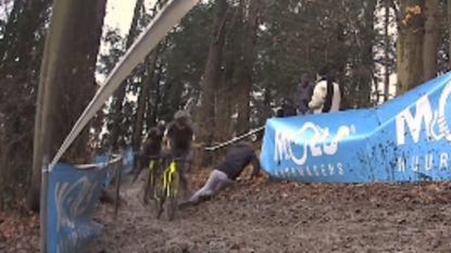 VIDEO: Meeusen en co ontsnapten in Overijse aan catastrofe: deze dronken fan ging bijna met de hoofdrol lopen