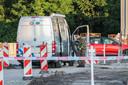 De explosieven opruimingsdienst aan het werk op Urk.