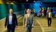 Leien terug even 'geknipt': één uur na feestelijke opening al ongeval in tunnel onder Antwerps Operaplein