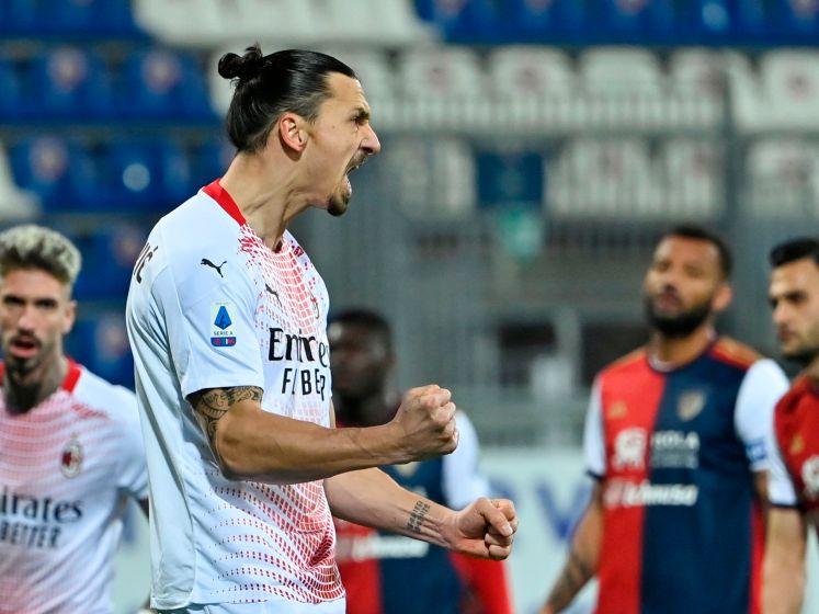 Uitblinker Ibrahimovic schiet AC Milan langs Cagliari