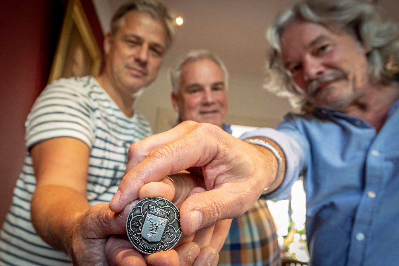 Carlo van den Biggelaar, Harold Stallaert en Jean-Paul Evertse (vlnr) zijn de initiatiefnemers voor de Roosendaalder.