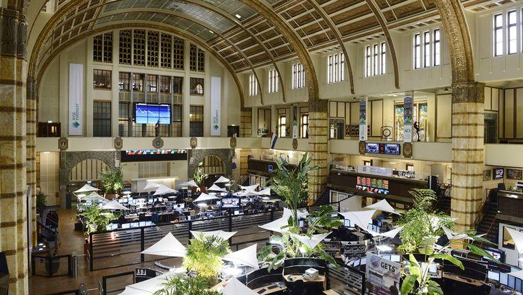 Interieur van het Amsterdamse beursgebouw. Beeld anp