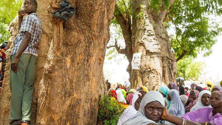 Vrouwen in Yola (Nigeria) tijdens het bezoek van VN-ambassadeur Samantha Power vorige maand