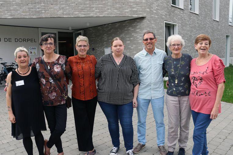 V.l.n.r. : Nancy Vercammen, Chantal Vermeulen, Christiane De Meyer, Ellen Govers, Patrick Bulteel, Erna Franssens & Maria Verboven.