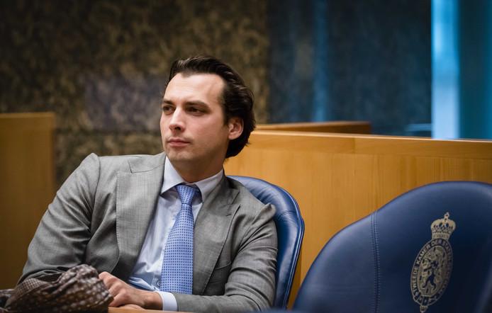 Thierry Baudet (FvD) tijdens het Tweede Kamerdebat over de Europese Raad van 14 en 15 december in Brussel.