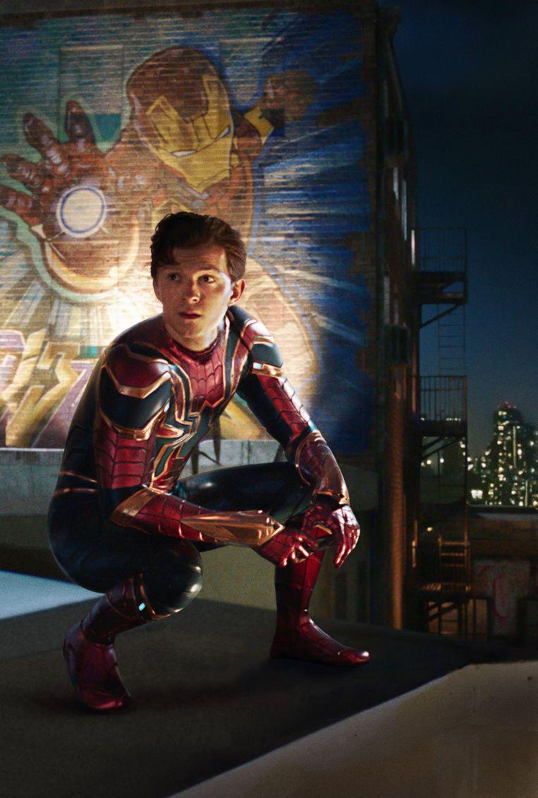 Peter Parker rouwt om Tony Stark.