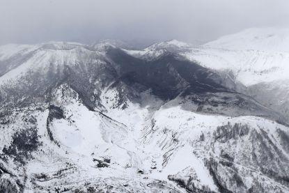 Vulkaanuitbarsting verrast skiërs in Japan