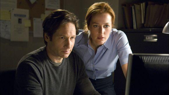 David Duchovny als Mulder en Gillian Anderson als Scully in 'The X-files'.