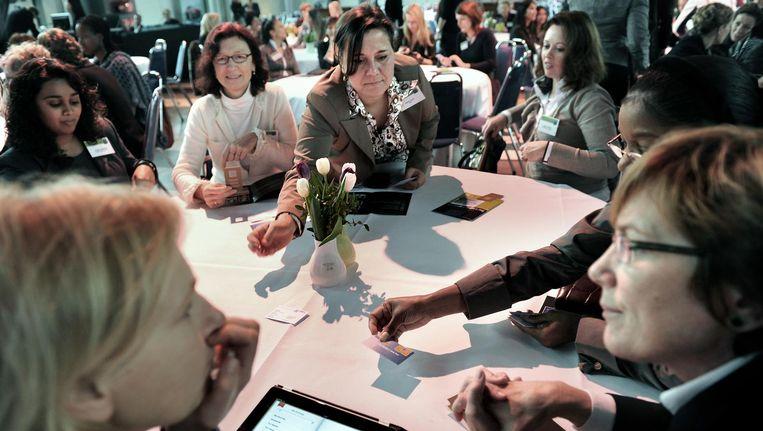 Vrouwen op The Women's Conference in Amsterdam, 2011 Beeld Marcel van den Bergh / de Volkskrant