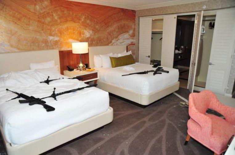 De hotelkamer van schutter Stephen Paddock.