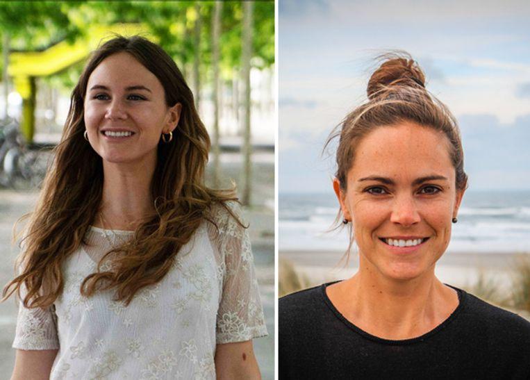 Reisbloggers Lesley Van Loon (links) en Katrien Goris (rechts)