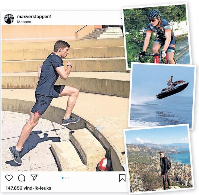 Max Verstappen bij zijn andere sporten in Monaco