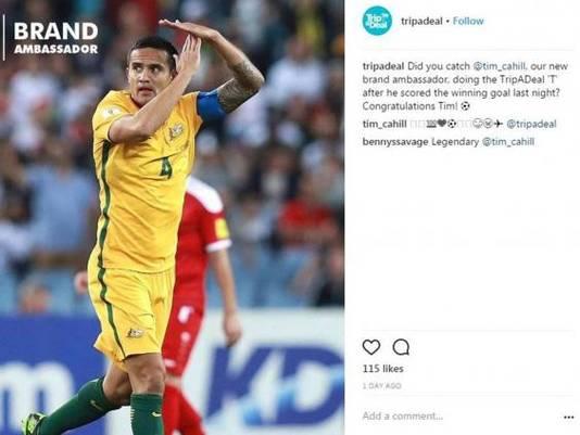 De inmiddels verwijderde Instagram-post van TripADeal.