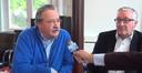 Anton van Tuyl (links) en Con van Beckhoven leggen in 2014 uit waarom zij van het CDA naar de VVD zijn overgelopen.