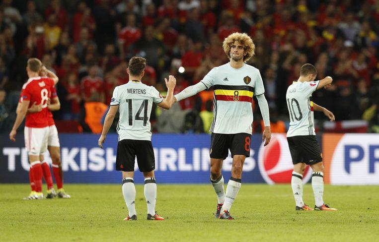 De teleurgestelde Belgen. Beeld reuters