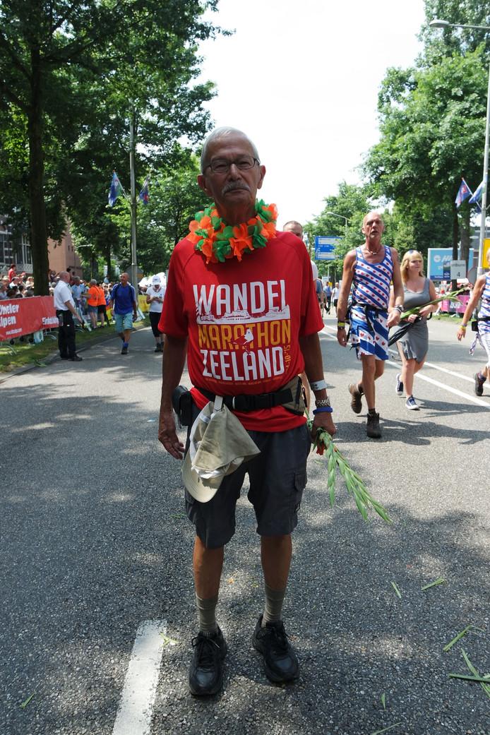 Charles Verbeek 77 jr uit Ovezande 30 km.