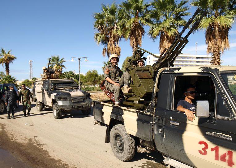 Archiefbeeld van de troepen onder het bevel van Khalifa Haftar