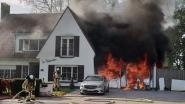 Duikfles ontploft: woning in lichterlaaie