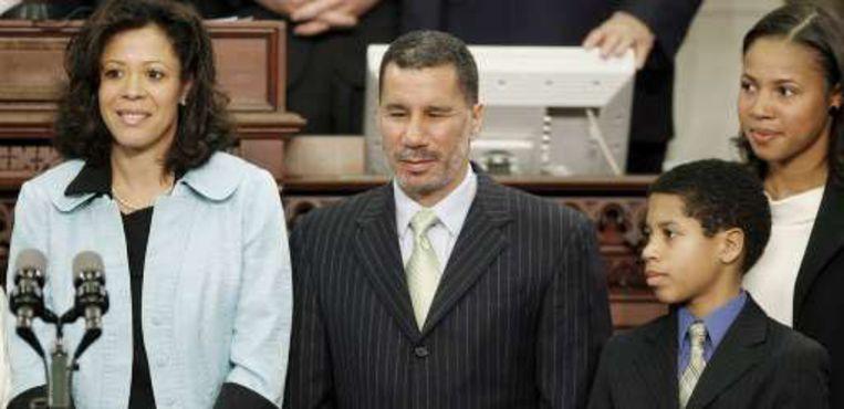 Het gezin Paterson: Michelle, David, Alex en Ashley.
