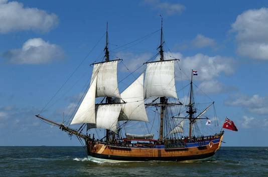 Een replica van de Endeavour