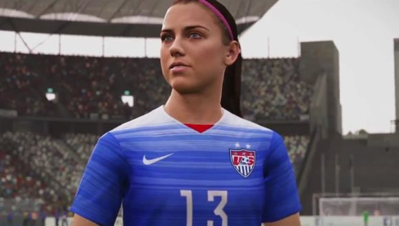 Een virtuele Alex Morgan.