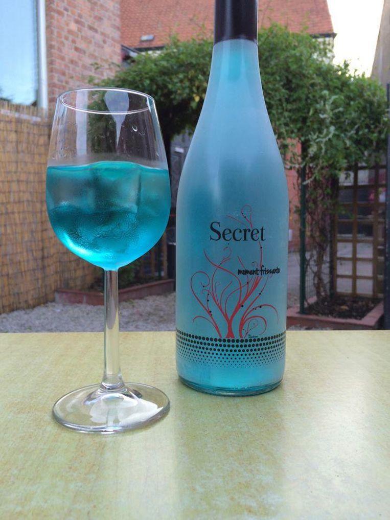 De blauwe wijn van wijnhandel Jolie.