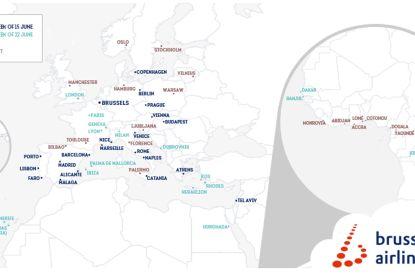 Brussels Airlines hervat 15 juni geleidelijk aan vluchten, 59 bestemmingen tegen augustus