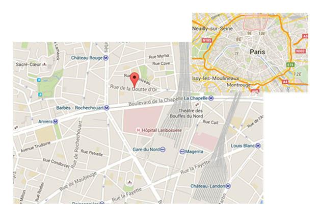 La scène s'est déroulée dans le quartier de la Goutte d'Or, dans le 18e arrondissement à Paris.