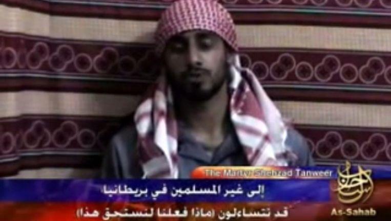 Al-Sahab's martelarenvideo van een van de daders van de aanslagen in Londen Beeld YouTube