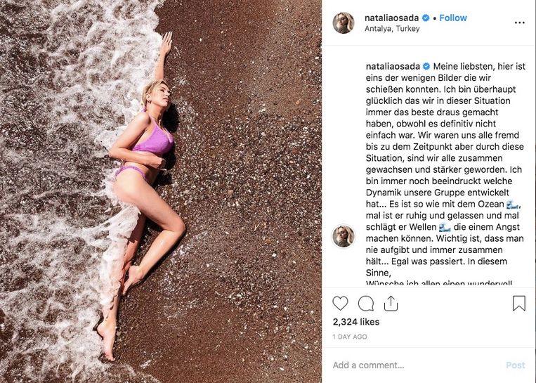"""""""Een van de weinige foto's die ik kon maken"""", schrijft Natalia Osada op Instagram."""