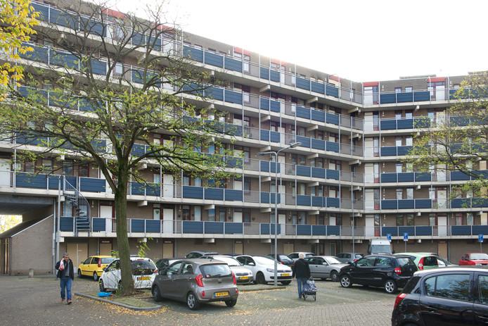 Huurflats in de wijk Kronenburg in Arnhem-Zuid.