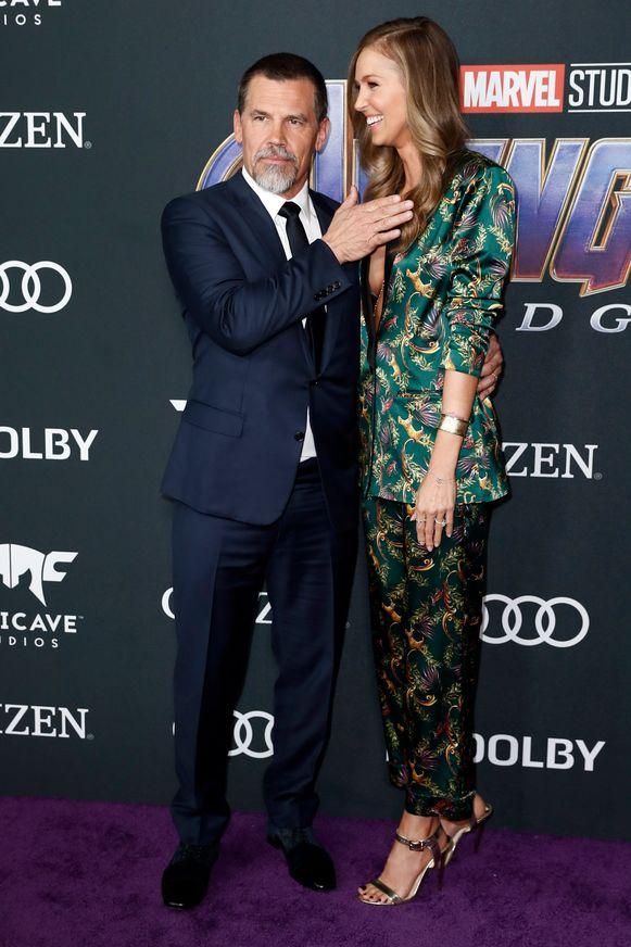 Grote slechterik Thanos, ofwel Josh Brolin met zijn vrouw, Kathryn Boyd.